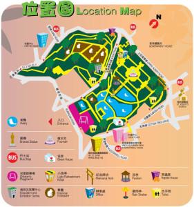 Hong Kong Zoological and Botanical Gardens Review Map