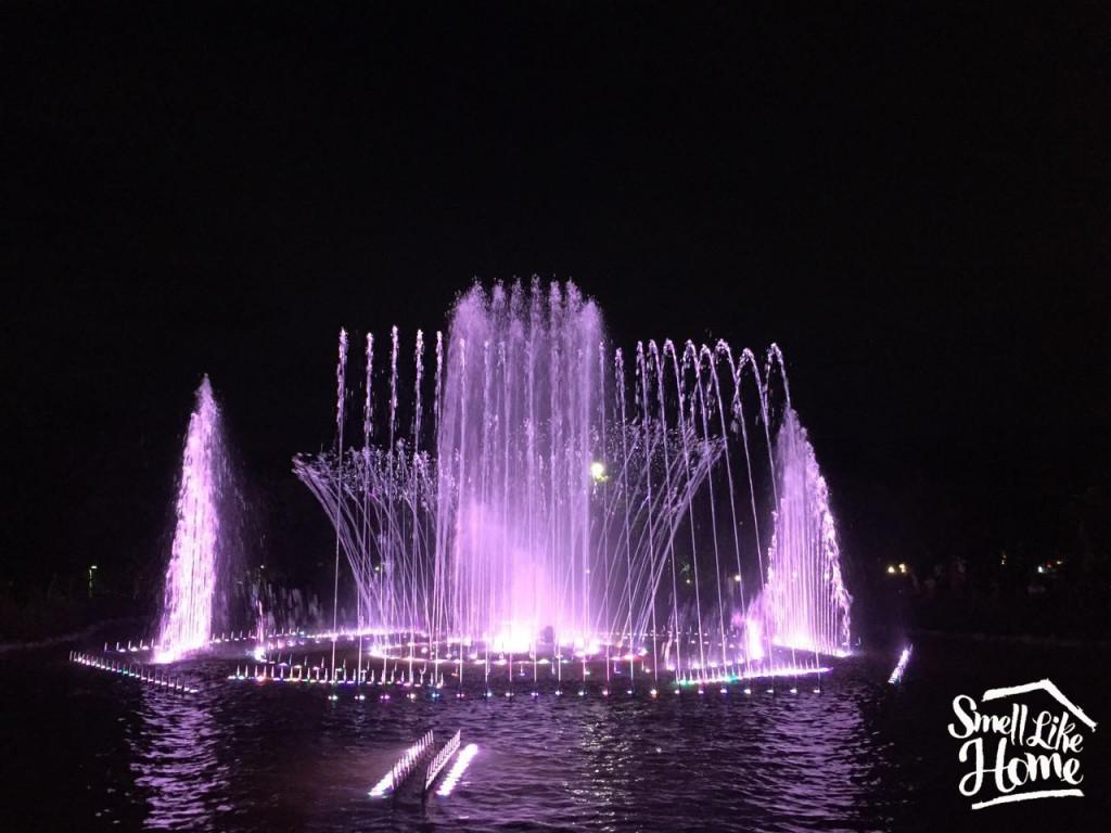 Air Mancur Menari Taman Kota Lumintang