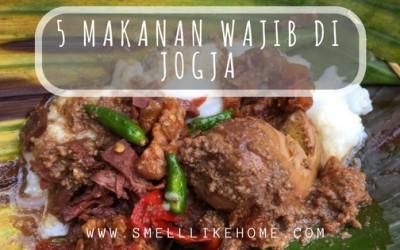 5 makanan wajib di Jogja