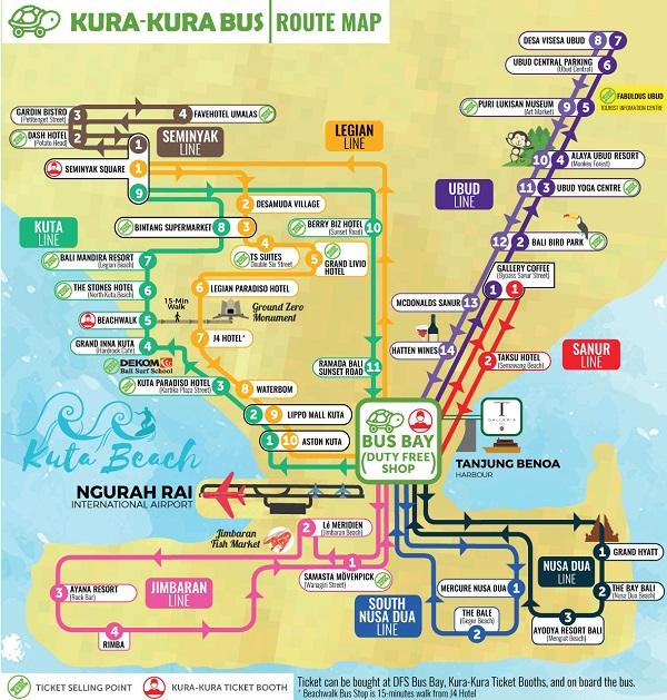 Rute Kura Kura Bus Bali