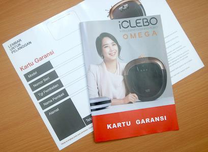 Kartu Garansi iClebo Indonesia - Vacuum Cleaner iClebo Indonesia