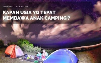 membawa anak camping