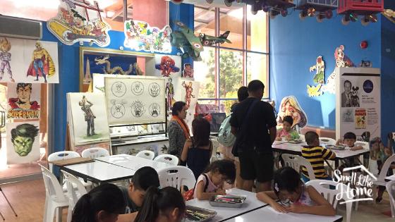 Lala Mengikuti Kelas Menggambar di Children's Discovery Museum Bangkok