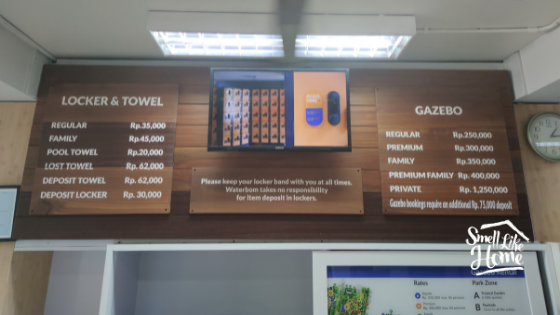 Waterbom Bali Harga Loker Towel Gazebo