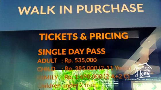 Waterbom Bali Walk In Price